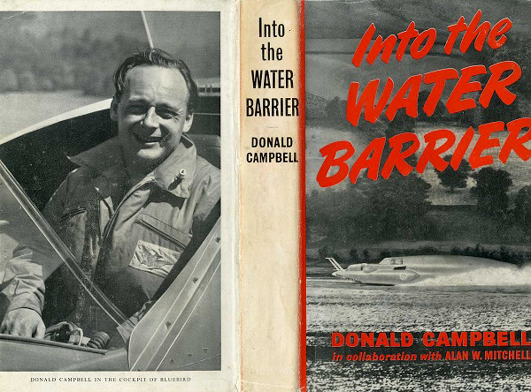 Into The Water Barrier Signed Donald Campbell Book