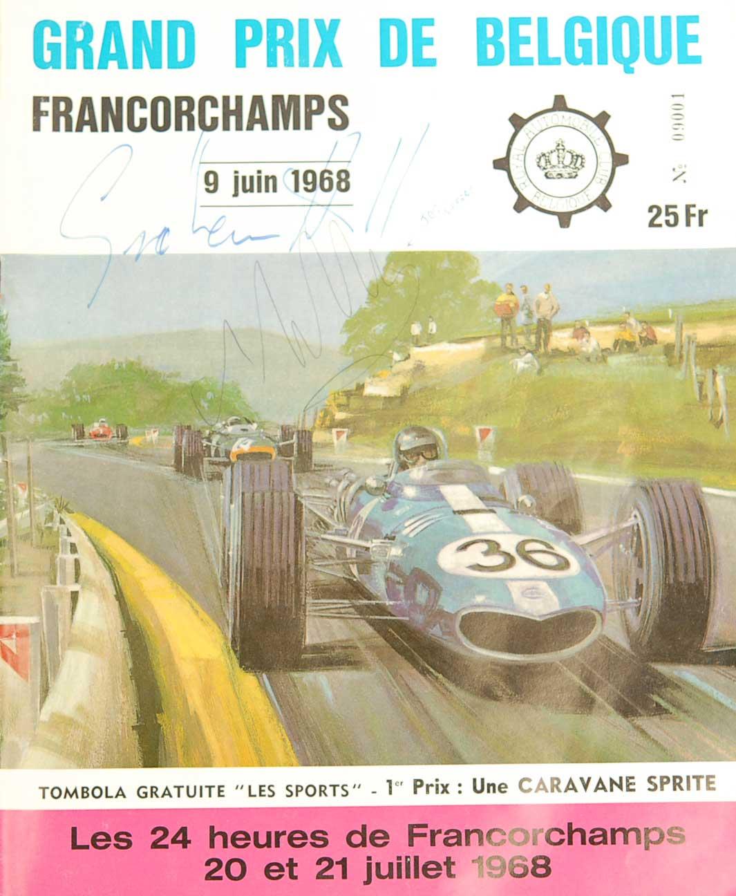 Grand Prix de Belgique 1968 Signed Magazine
