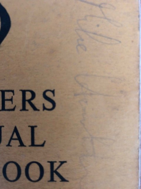 Signed 1954 AA Handbook: