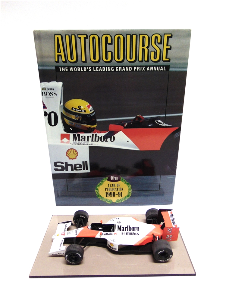 signed Autocourse book