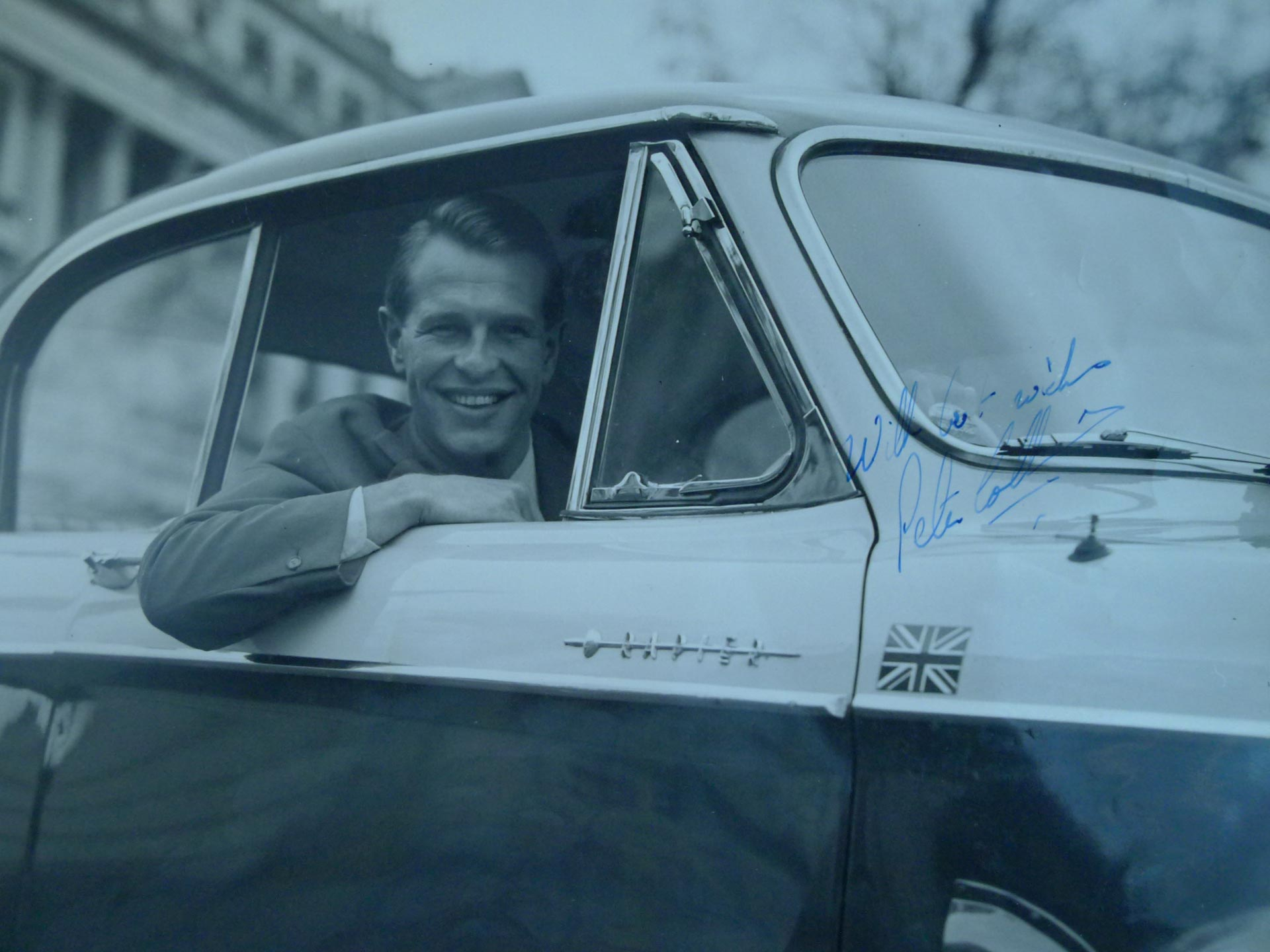 Peter Collins signed photograph