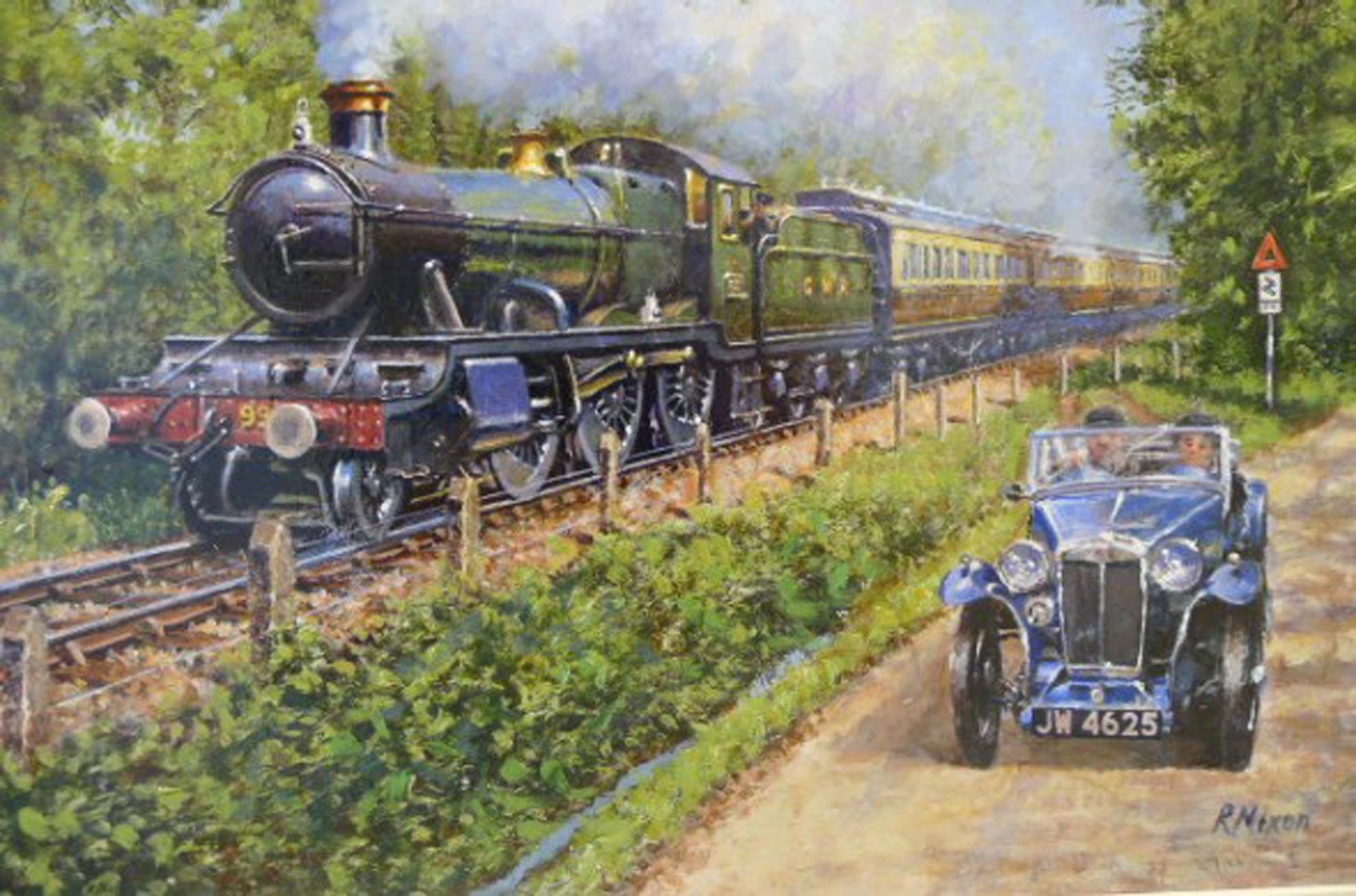 Racing The Train by Robert Nixon