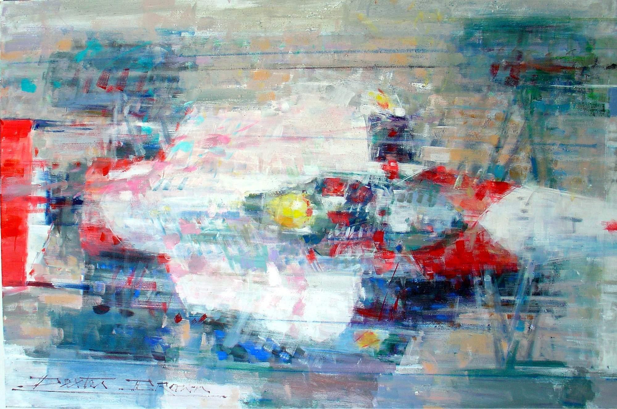Ayrton Senna original Dexter Brown painting