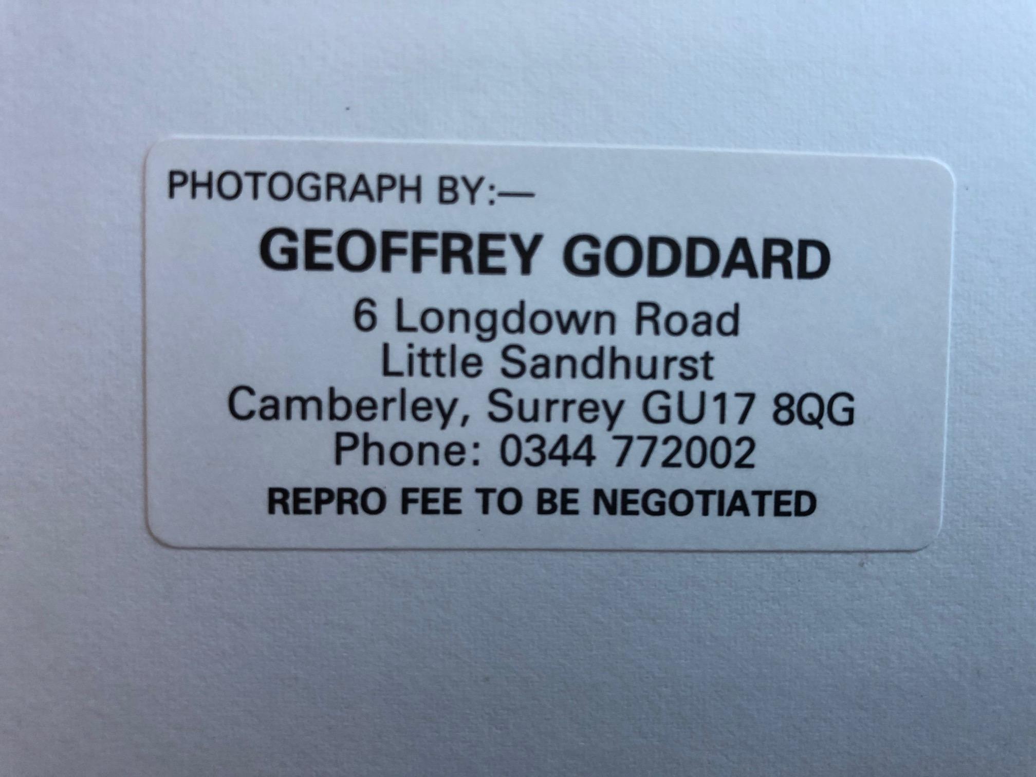 Original Geoff Goddard Photograph