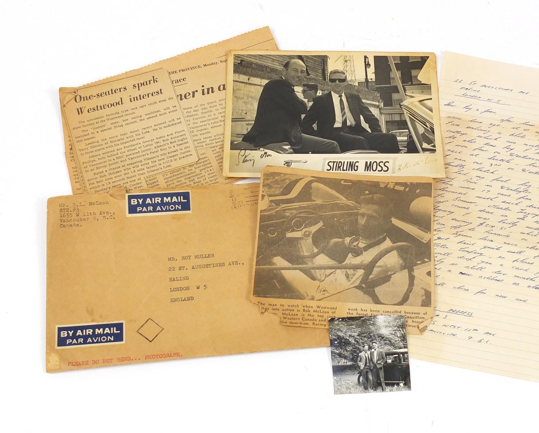 Bob McLean/Stirling Moss ephemera