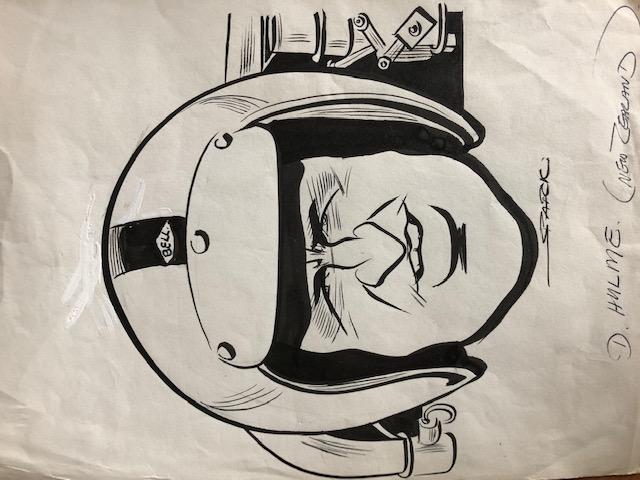 Denny Hulme Original Cartoon