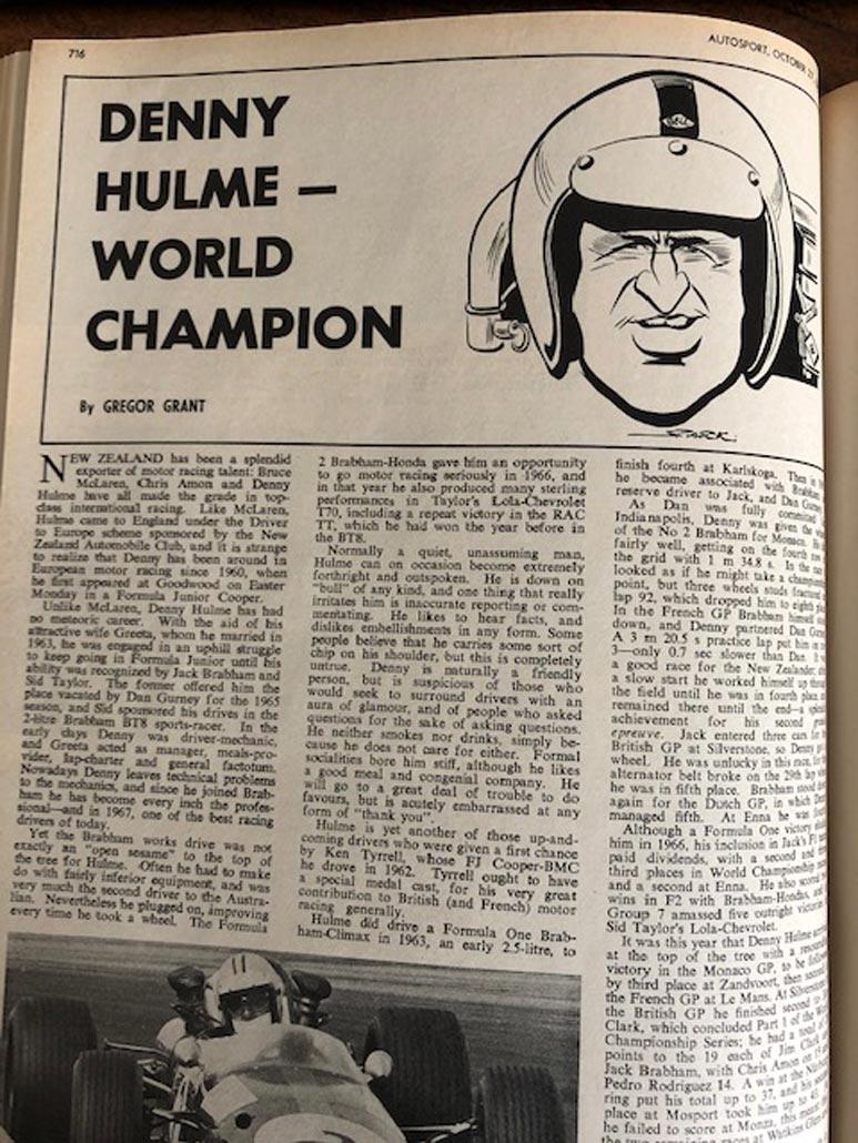 Artwork used in Autosport 1967