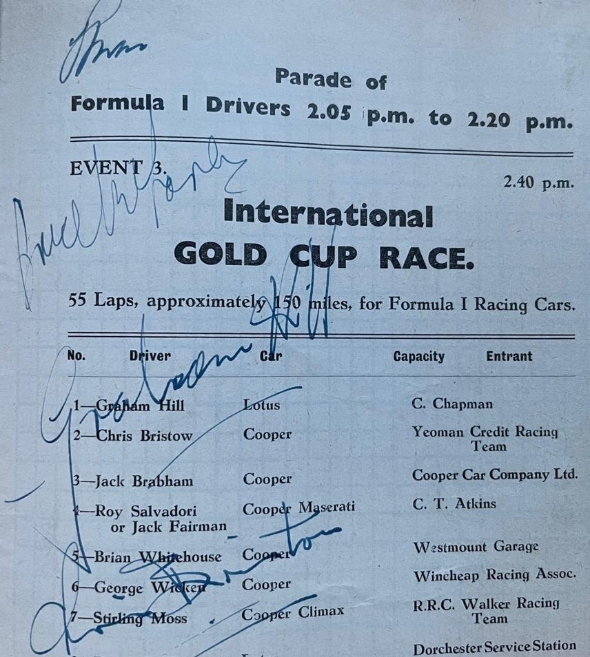 Oulton Park Gold Cup 1959 Programme