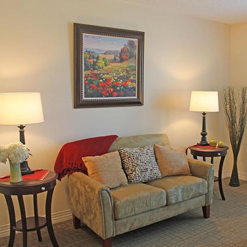 Lawrence presbyterian manor respite care living room