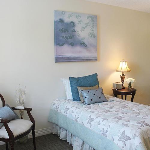 Lawrence presbyterian manor respite care bedroom