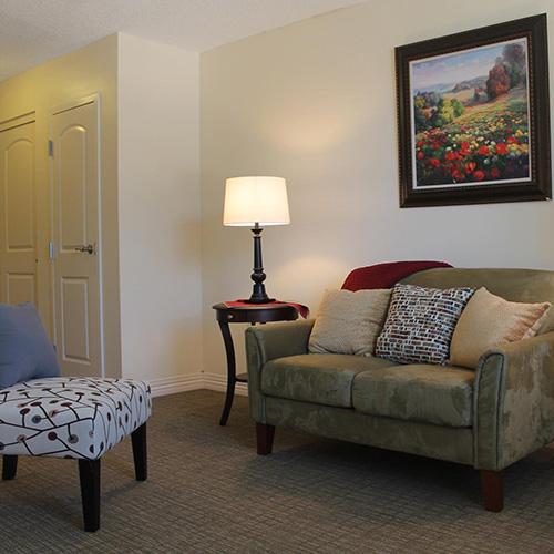 Lawrence presbyterian manor respite care sitting room