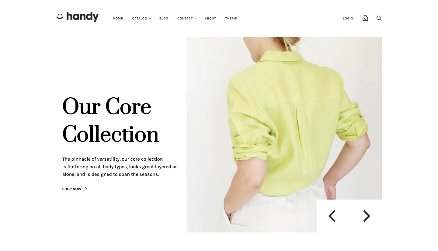 handy shopify theme