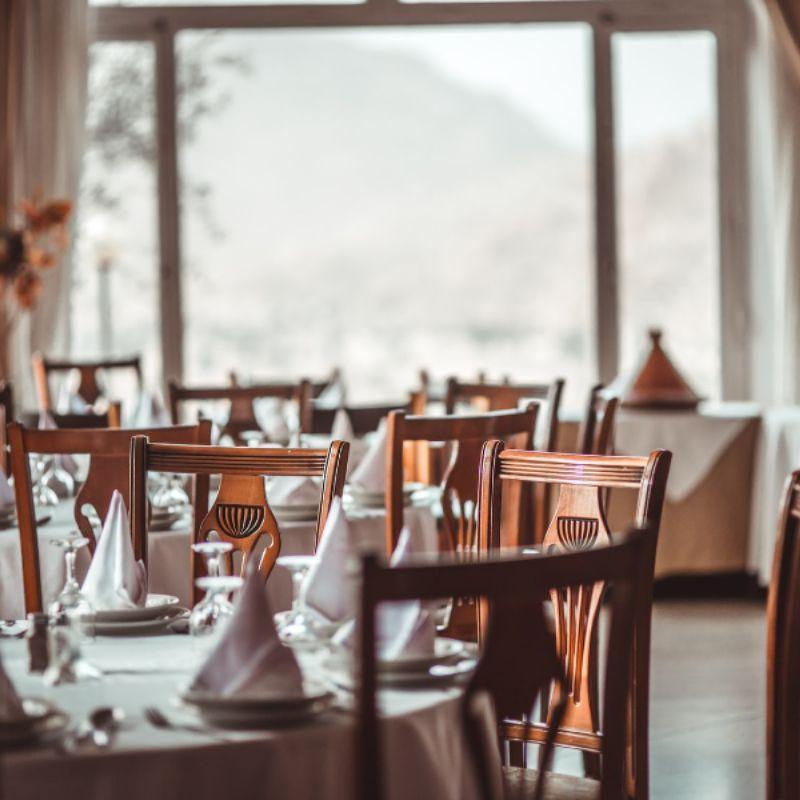 Restaurant closed because of coronavirus pandemic