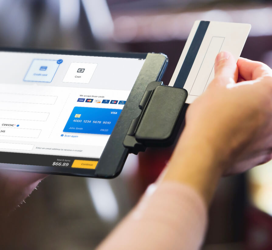 point of sale to collect flexible and secure payment