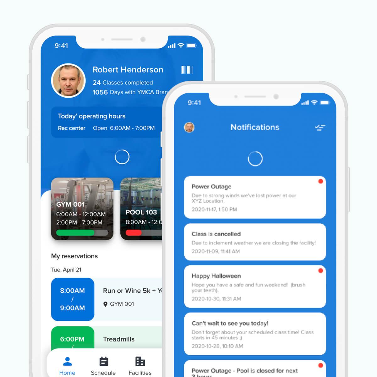 activenet captivate app mockup