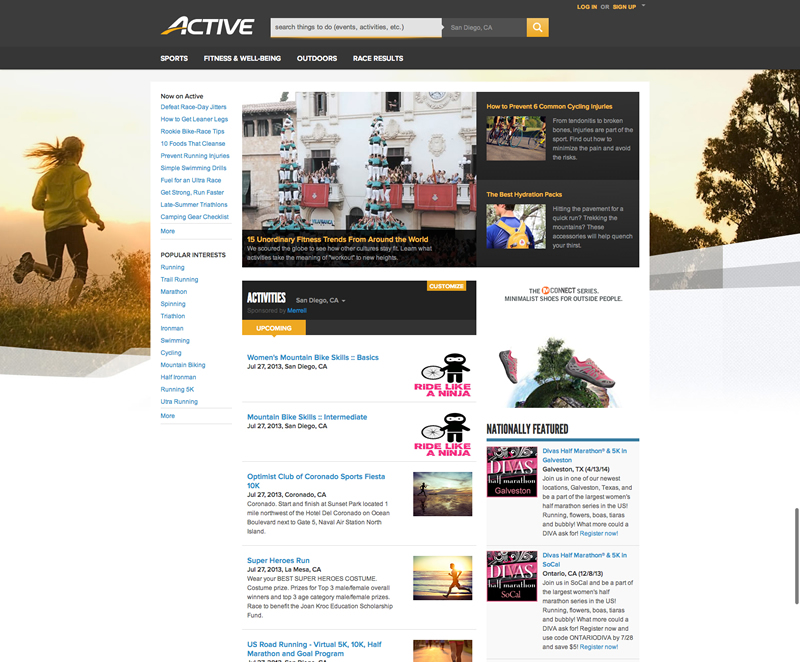 ACTIVE com Relaunch_Home Page
