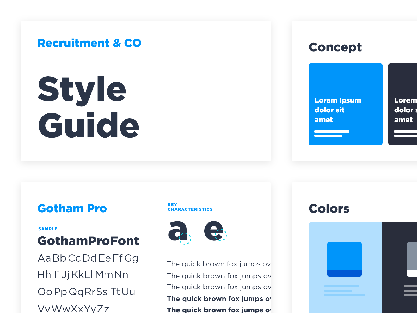 Style guide mockup concept