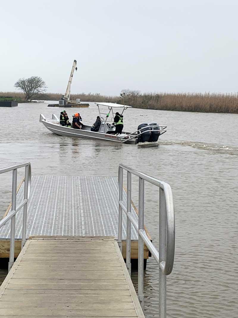 boat on water near a dock