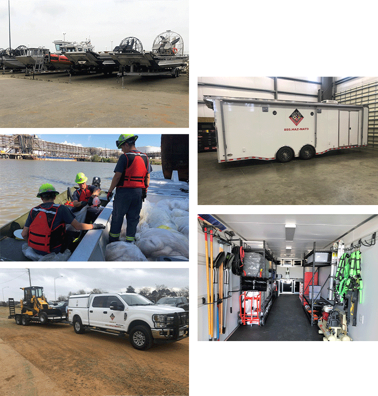 collage of HMSS transportation vehicles