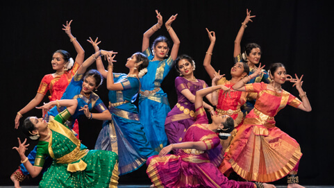 chitraleka dance academy performance group in costume
