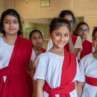 young chitraleka students smiling