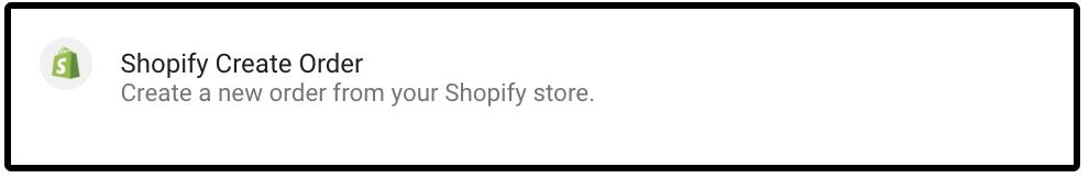 Shopify Create Order description