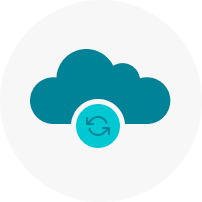 conceptual illustration of cloud data