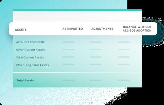 screenshot of assets report