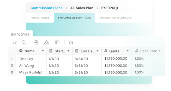 screenshot of first quarter payouts
