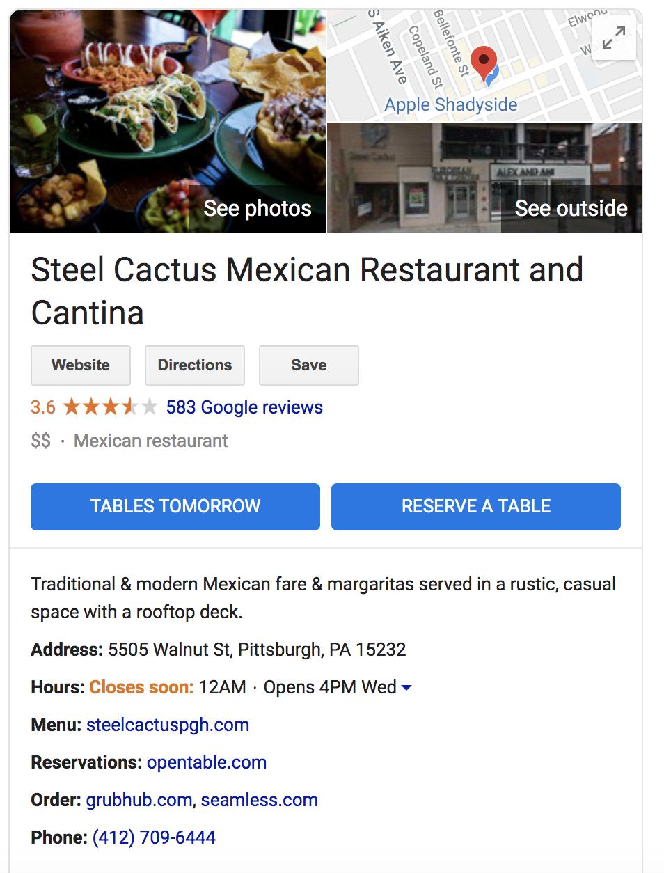 Steel Cactus Google Buisness Listing