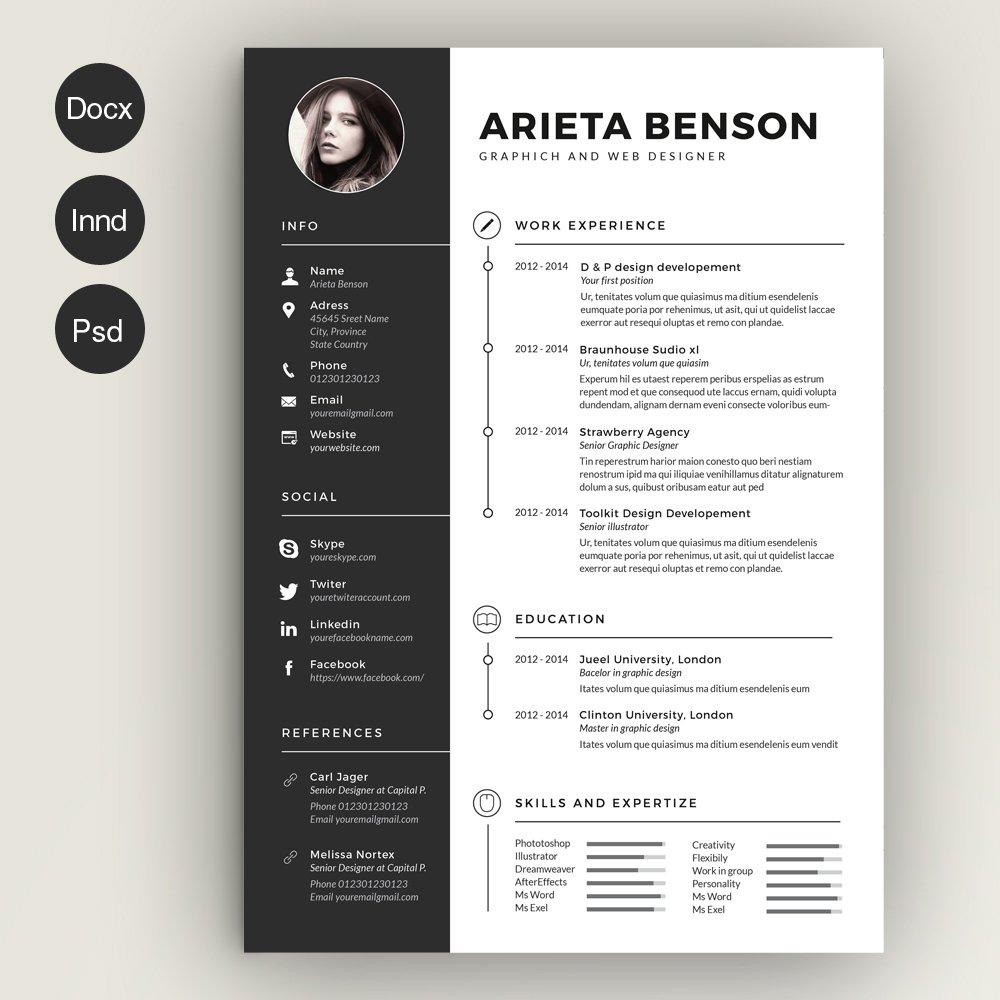 Creative resume for a graphic designer
