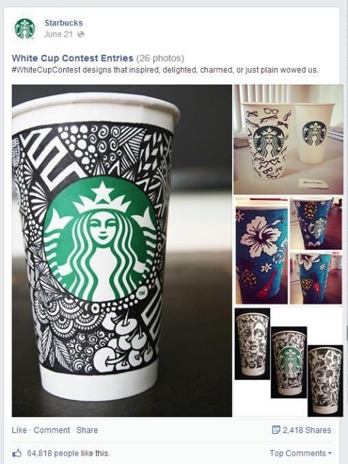 Starbucks Facebook Post