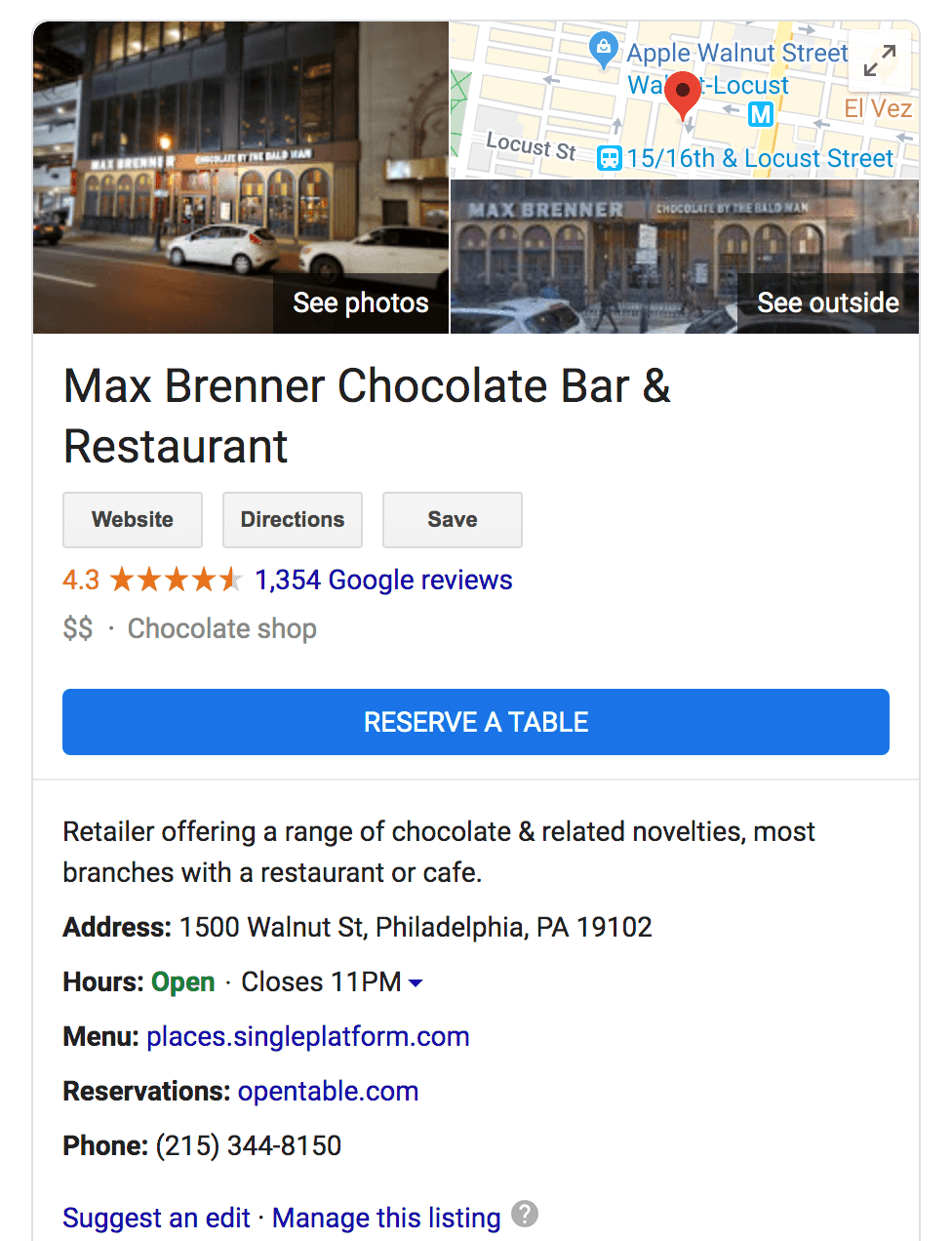 Google Business Listing Philadelphia