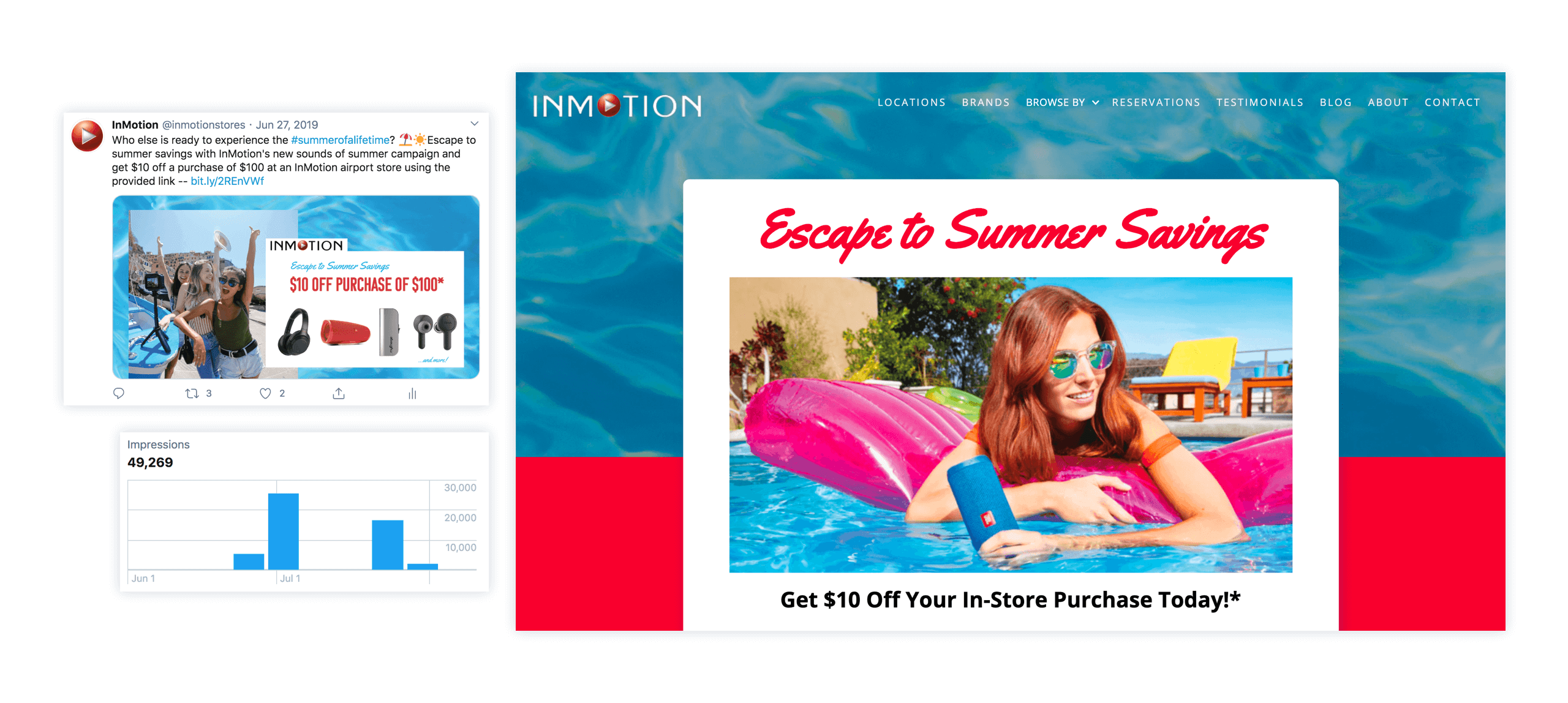 InMotion's Sounds of Summer Campaign