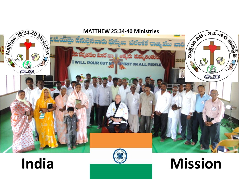 A group of Christians gathering together in India.