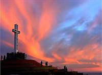 Sunrise at the Sunrise Service at Mount Soledad, January 1, 2012. Start the year off dedicating ourselves to the Lord Jesus!