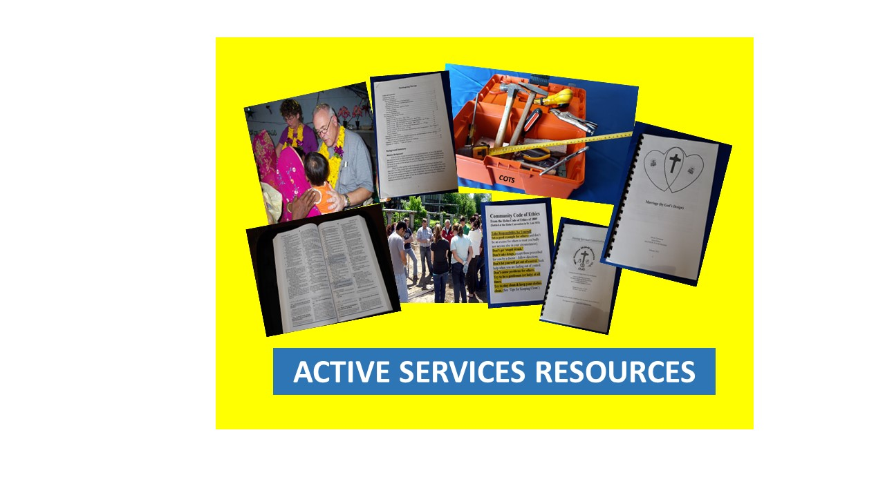 Resources for helping to actively meet the needs of others.
