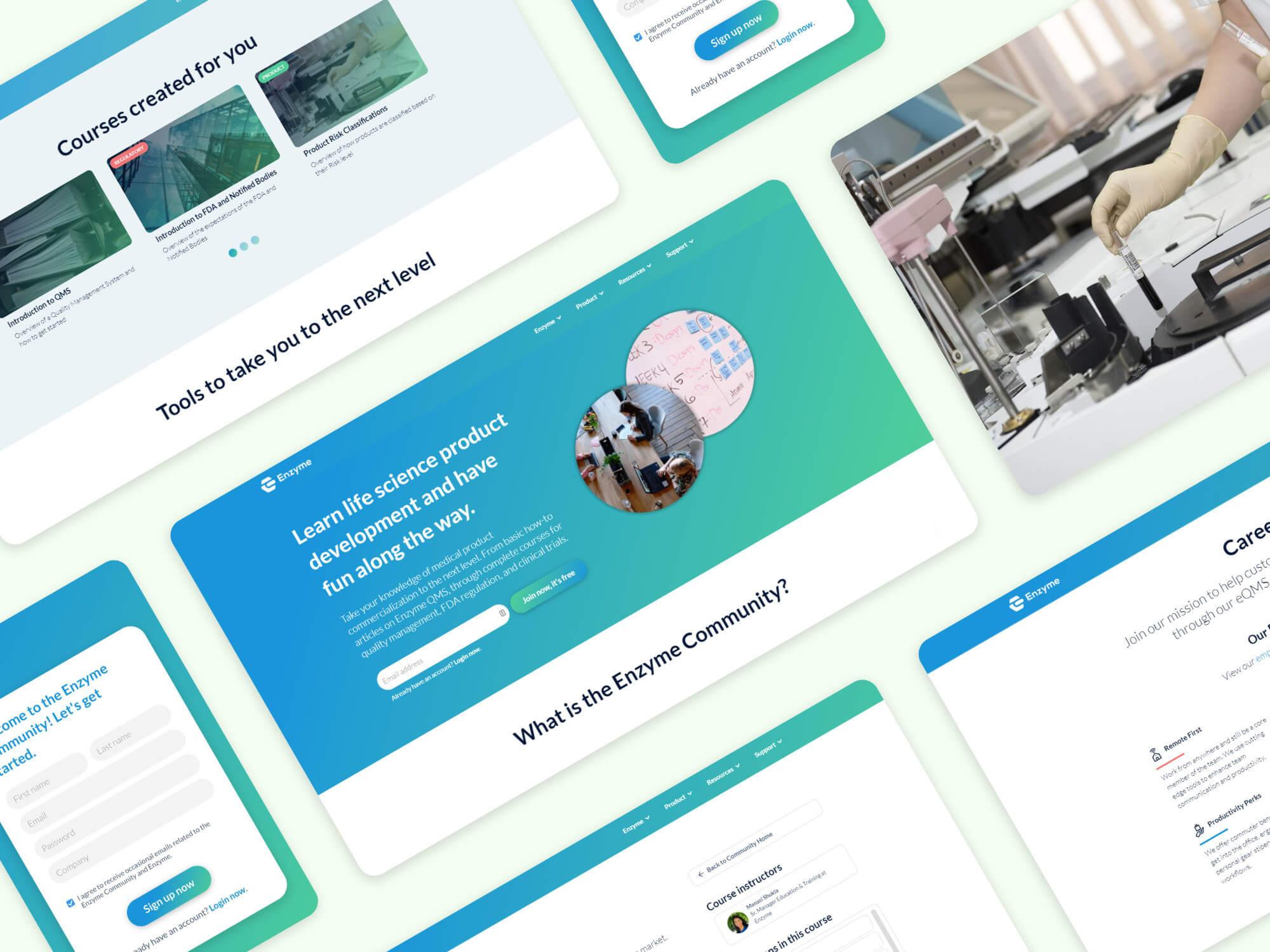 Enzyme.com portfolio collage