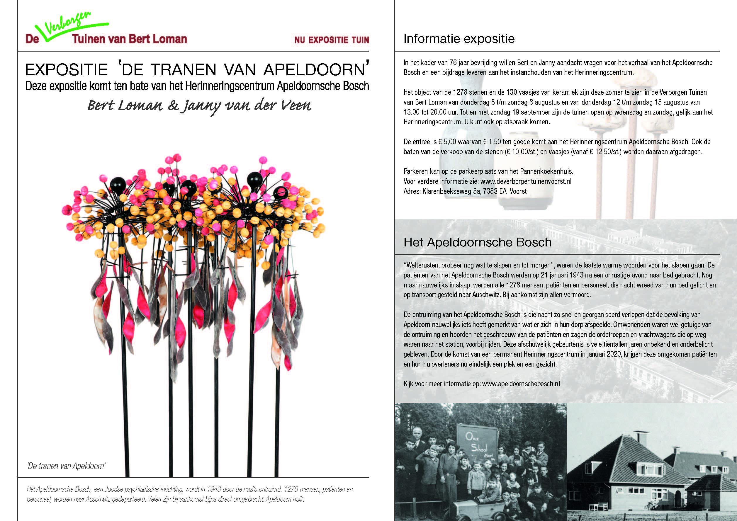 De tranen van Apeldoorn: expositie in het teken van Het Apeldoornsche Bosch