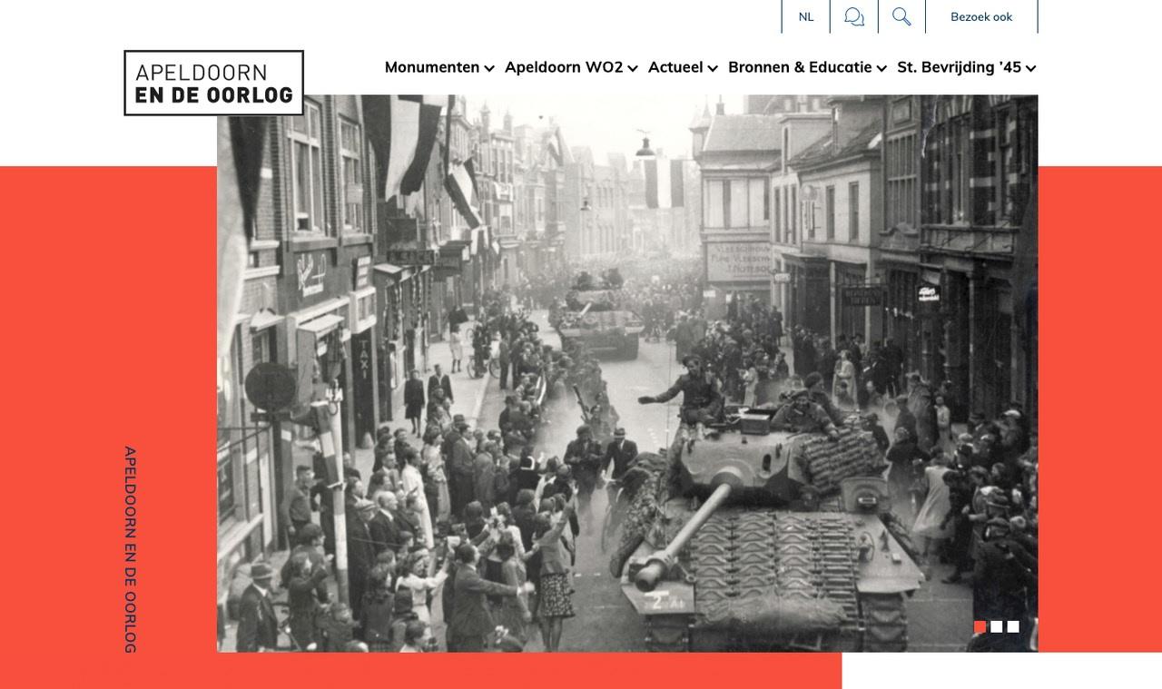 Nieuwe website voor Apeldoorn en de oorlog.nl