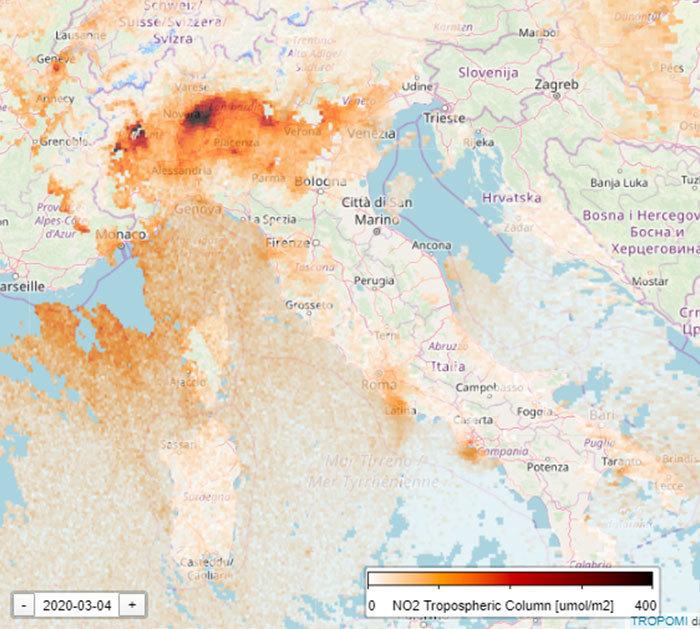 Спутниковые фото о том, как нынешняя пандемия спасает окружающую среду от загрязнения