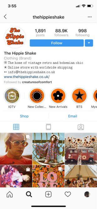 Instagram био со специальными персонажами