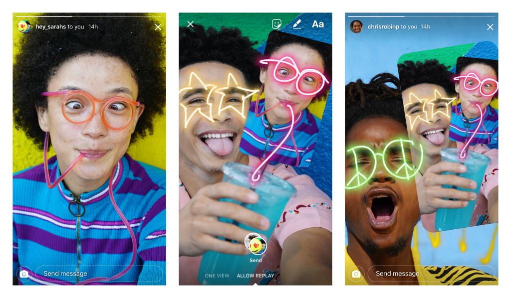 редактировать фото друзей в Instagram