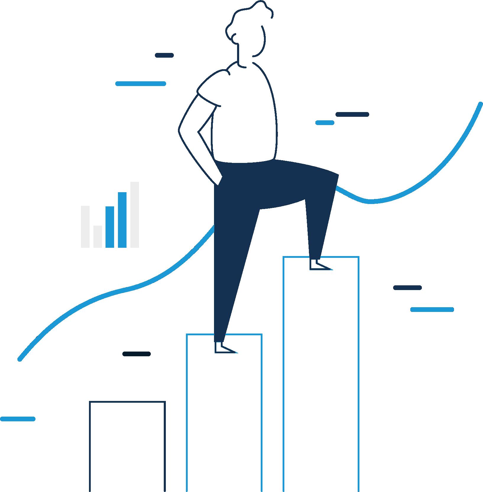 Ilustração Investidor Criptomoedas
