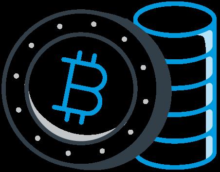 Ilustração Invista em Bitcoin