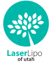 Laser Lipo of Utah Logo - Green circle with white tree inside