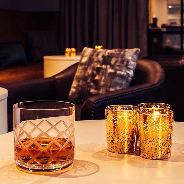 scotch in an etched glass