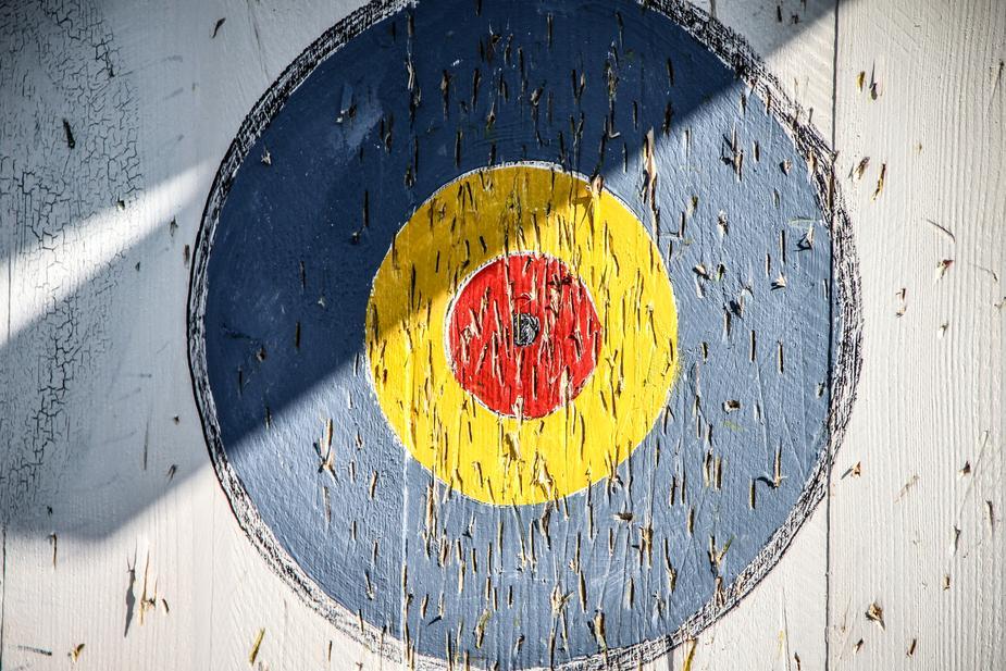 Wooden bullseye