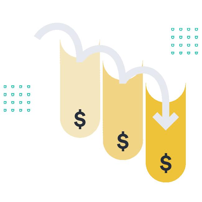 Loosing revenue illustration