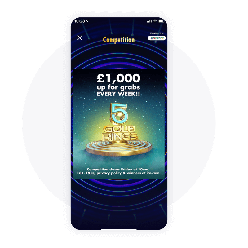Live competitions to increase audience engagement on the 5 Gold Rings App